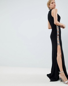 Платье с разрезом сбоку Jovani - Черный
