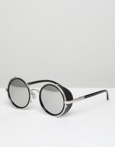 Круглые солнцезащитные очки Jeepers Peepers - Серебряный