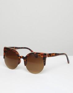 Солнцезащитные очки кошачий глаз в черепаховой оправе Jeepers Peepers - Коричневый