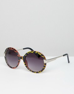 Большие черепаховые солнцезащитные очки Jeepers Peepers - Коричневый