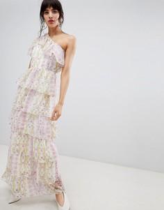 Платье макси на одно плечо с цветочным принтом Vero Moda - Мульти