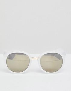 Круглые солнцезащитные очки в белой оправе AJ Morgan - Белый