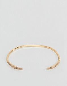 Золотистый браслет-манжета с мелкими кристаллами ASOS DESIGN - Золотой