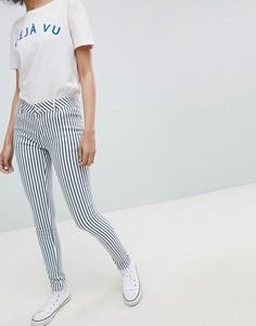 Зауженные джинсы в полоску Urban Bliss - Темно-синий