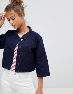 Укороченная джинсовая рубашка Waven Tak - Темно-синий