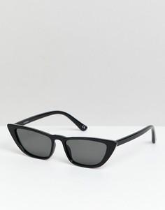 Черные солнцезащитные очки кошачий глаз ASOS DESIGN - Черный