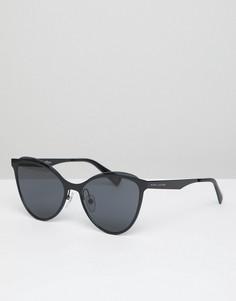 Черные солнцезащитные очки кошачий глаз в стиле 198-х Marc Jacobs - Черный
