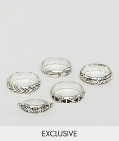 Серебристое кольцо с отделкой Relaimed Vintage Inspired эксклюзивно для ASOS - Серебряный