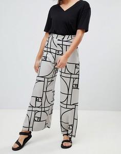 Широкие брюки с принтом Weekday - Мульти