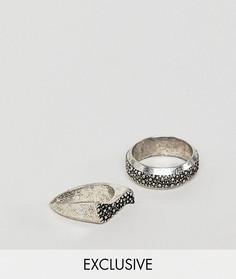 2 кольца с печаткой Reclaimed Vintage Inspired эксклюзивно для ASOS - Серебряный
