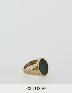 Золотистое кольцо с камнем Reclaimed Vintage Inspired эксклюзивно для ASOS - Золотой