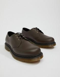 Туфли шоколадного цвета Dr.Martens 1461 - Коричневый