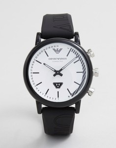 Смарт-часы с силиконовым ремешком Emporio Armani ART3022 Luigi Emoticon - Черный