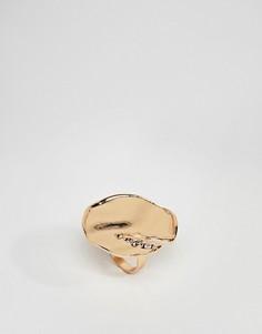 Эффектное золотистое кольцо ASOS DESIGN - Золотой