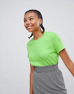Узкая футболка Monki - Зеленый