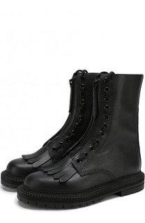 Кожаные ботинки с бахромой Burberry