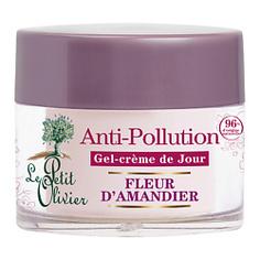 LE PETIT OLIVIER Гель-крем для лица дневной с цветками миндального дерева Защита от агрессивных факторов окружающей среды 50 мл