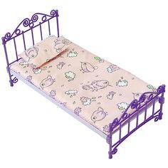Кроватка с постельным бельем (в пакете ПВХ) Огонек Огонёк