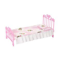 Кроватка розовая с постельным бельем (в пакете п/п) Огонек Огонёк