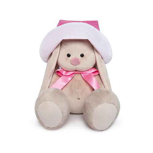 Мягкая игрушка Budi Basa Зайка Ми в розовой панамке и с бантиком, 18 см