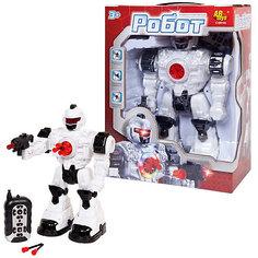 Робот р/у со светом и звуком, стреляет мягкими снарядами, в коробке, 26х13х34,5см Abtoys