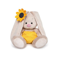 Мягкая игрушка Budi Basa Зайка Ми в желтых трусах в горошек и с подсолнухом, 15 см