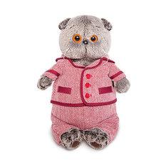 Мягкая игрушка Budi Basa Кот Басик в красном пиджаке и брюках в ёлочку, 22 см