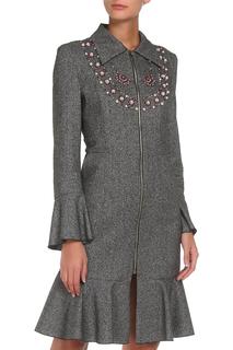 Пальто с вышивкой Adzhedo