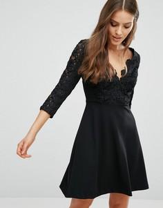 Кружевное приталенное платье River Island - Черный