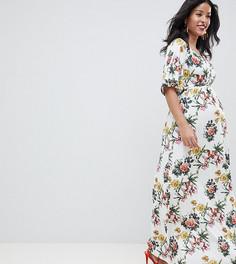Платье макси с цветочным принтом ASOS DESIGN Maternity - Мульти