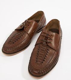 Кожаные туфли для широкой стопы со шнуровкой ASOS DESIGN - Рыжий