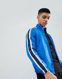Синяя спортивная куртка с полосками сбоку Pull&Bear - Синий Pull&Bear