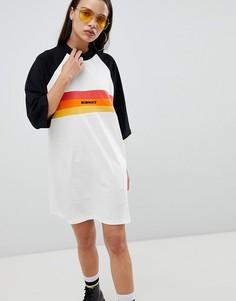 Платье-футболка oversize с принтом The Ragged Priest - Мульти