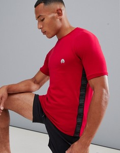 Красная футболка с полосками по бокам HIIT - Красный