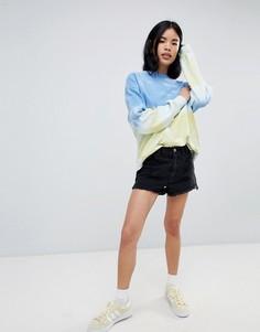 Джинсовые шорты с рваной отделкой и необработанными краями Pull&Bear - Черный Pull&Bear