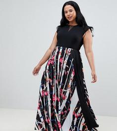 Платье макси с принтом Coast Plus Katy - Мульти