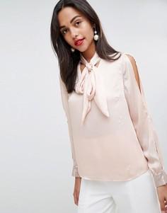 Блузка с отделкой пайетками Coast - Розовый