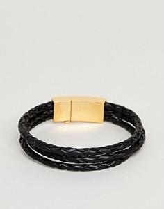 Золотисто-черный браслет Vitaly Tether - Черный