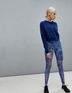 Синие сетчатые леггинсы Nike Training Power - Синий