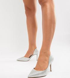 Туфли на высоком каблуке для широкой стопы ASOS DESIGN Purley - Серебряный