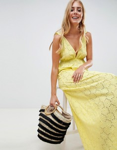 Пляжное платье макси с оборкой ASOS DESIGN - Желтый
