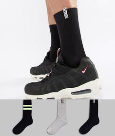 Набор из 3 пар фестивальных носков в спортивном стиле ASOS - Мульти