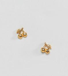 Серьги-гвоздики из позолоченного серебра ASOS DESIGN - Золотой