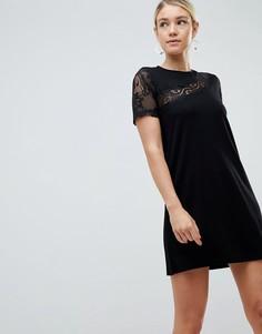 Платье с кружевом ASOS DESIGN - Черный