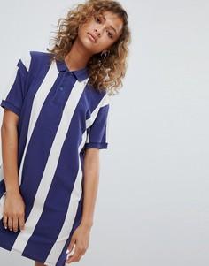 Синее платье регби в стиле колор блок Pull&Bear - Мульти Pull&Bear