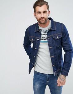 Темно-синяя джинсовая куртка Pull&Bear - Синий Pull&Bear
