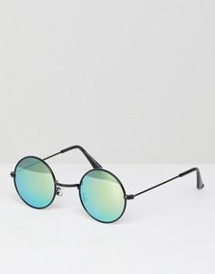 Круглые очки с зеркальными линзами 7x - Черный