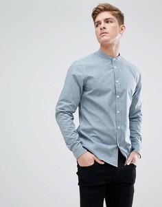 Рубашка в горошек с воротником на пуговицах Solid - Синий