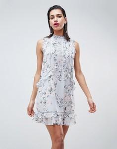 Свободное платье с кружевной отделкой Forever New - Мульти