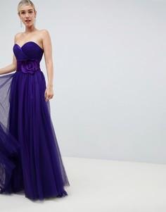 Платье для выпускного с вырезом сердечком Jovani - Синий